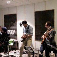 تمرین آهنگ های آلبوم اکسیر در استودیو زاوش - سال 1397